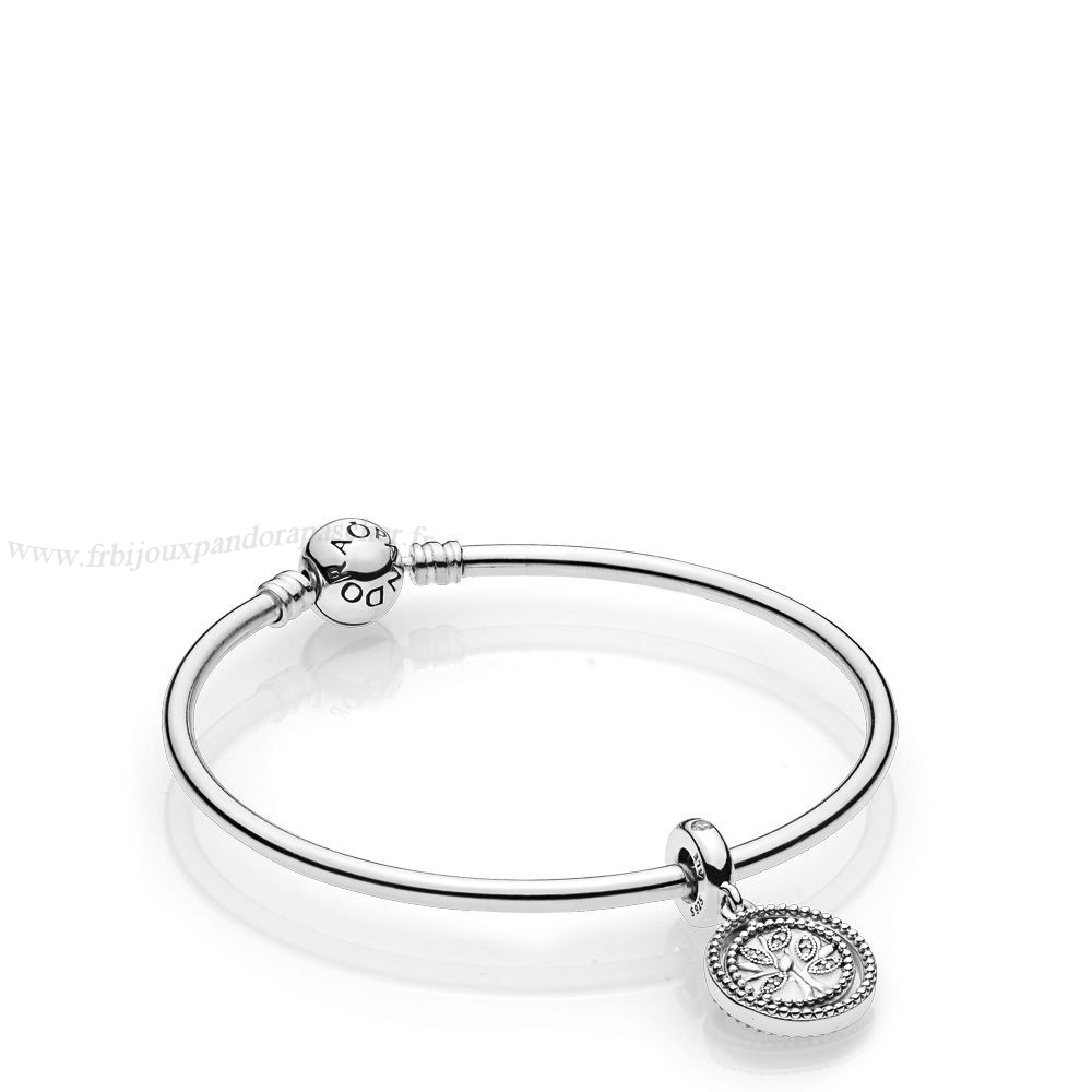 Pandora Promotion Family Tree Bangle Gift Set En Ligne