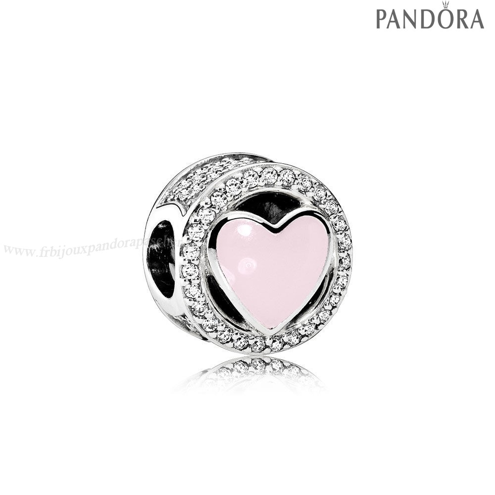 Pandora Promotion Charms Wonderful Amour Soft Rose Enamel Clear Cz En Ligne