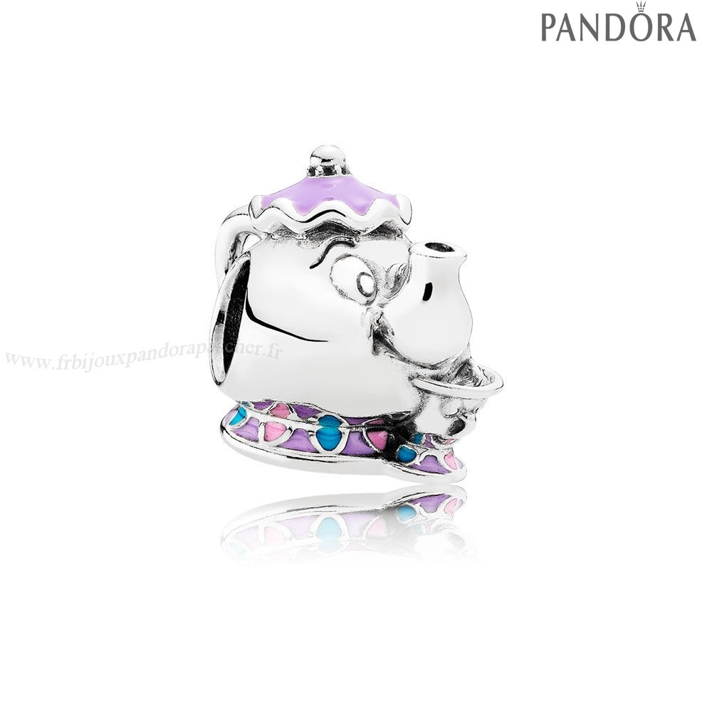 Pandora Promotion Dangle Disney Mrs. Potts Puce Charme Mixed Email En Ligne