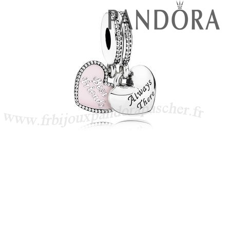 Pandora Promotion Danglees Meilleur Amis Dangle Soft Rose Email Clear Cz En Ligne