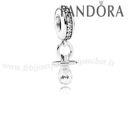 Pandora Promotion Danglees Pacifier Dangle Clear Cz En Ligne