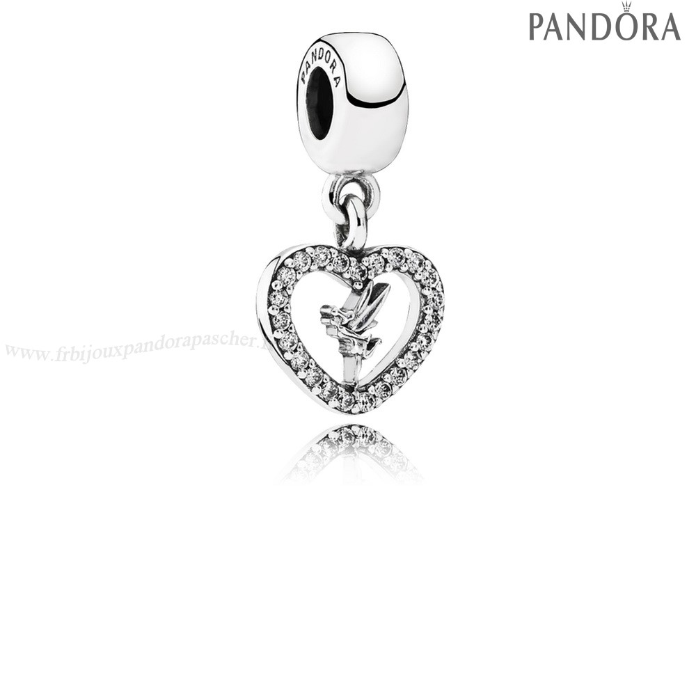 Pandora Promotion Disney Amour Tinker Bell Dangle Charm Clear Cz En Ligne