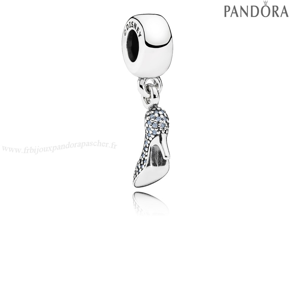 Pandora Promotion Disney Cendrillon Mousseux Dangle Charm Fancy Lumiere Blue Cz En Ligne