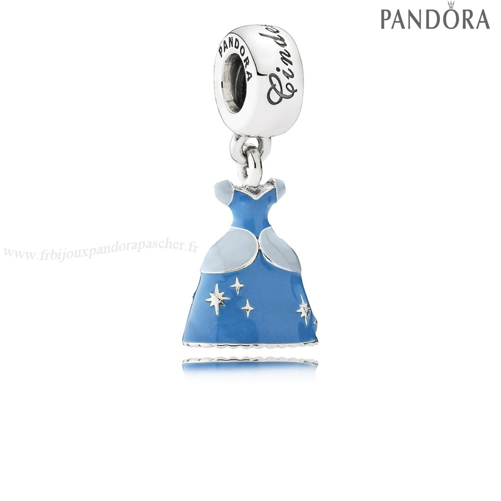 Pandora Promotion Disney Cendrillon Robe Dangle Charm Mixed Enamel En Ligne