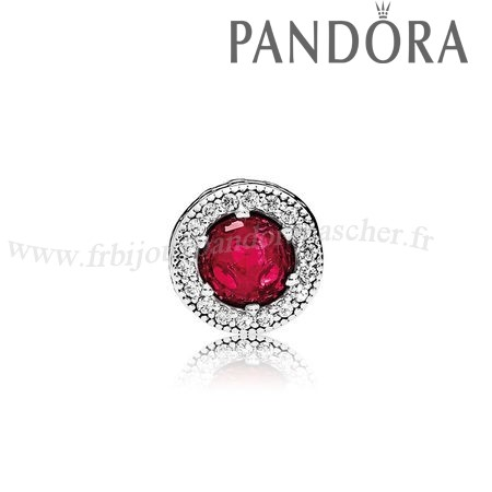Pandora Promotion Essence Passion Charme Synthetique Rubis Clear Cz En Ligne