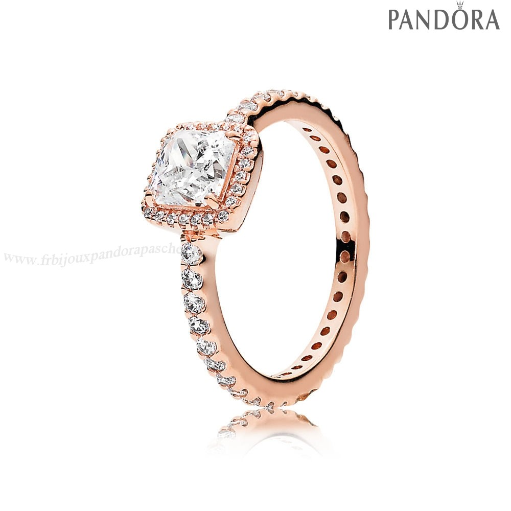 Pandora Promotion Intemporel Elegance Bagues Pandora Rose Clear Cz En Ligne