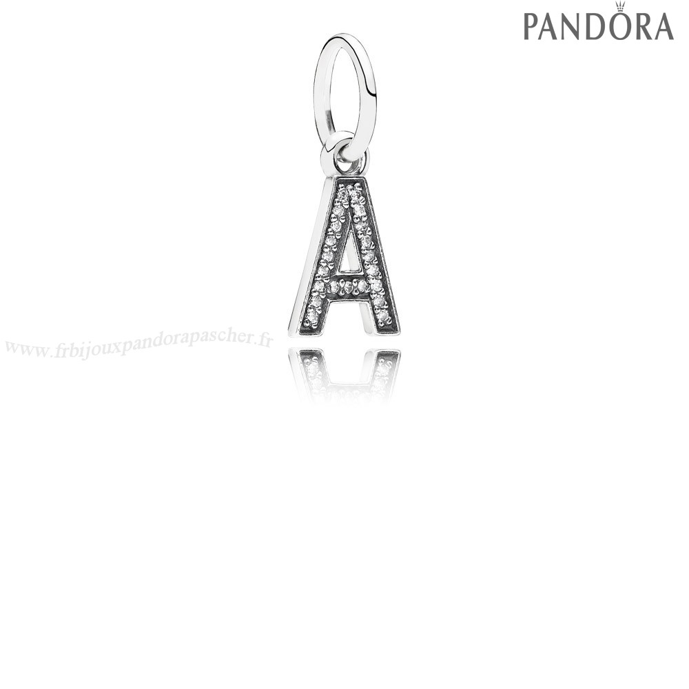 Pandora Promotion Pandora Alphabet Symbols Charms Lettre A Dangle Charm Clear Cz En Ligne