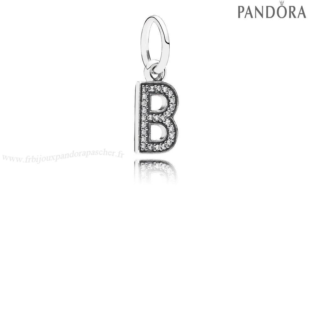 Pandora Promotion Pandora Alphabet Symbols Charms Lettre B Dangle Charm Clear Cz En Ligne