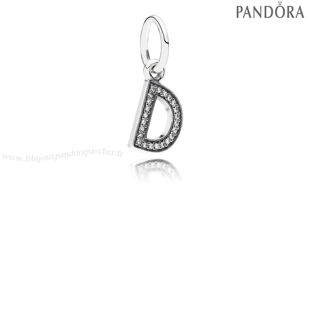 Pandora Promotion Pandora Alphabet Symbols Charms Lettre D Dangle Charm Clear Cz En Ligne