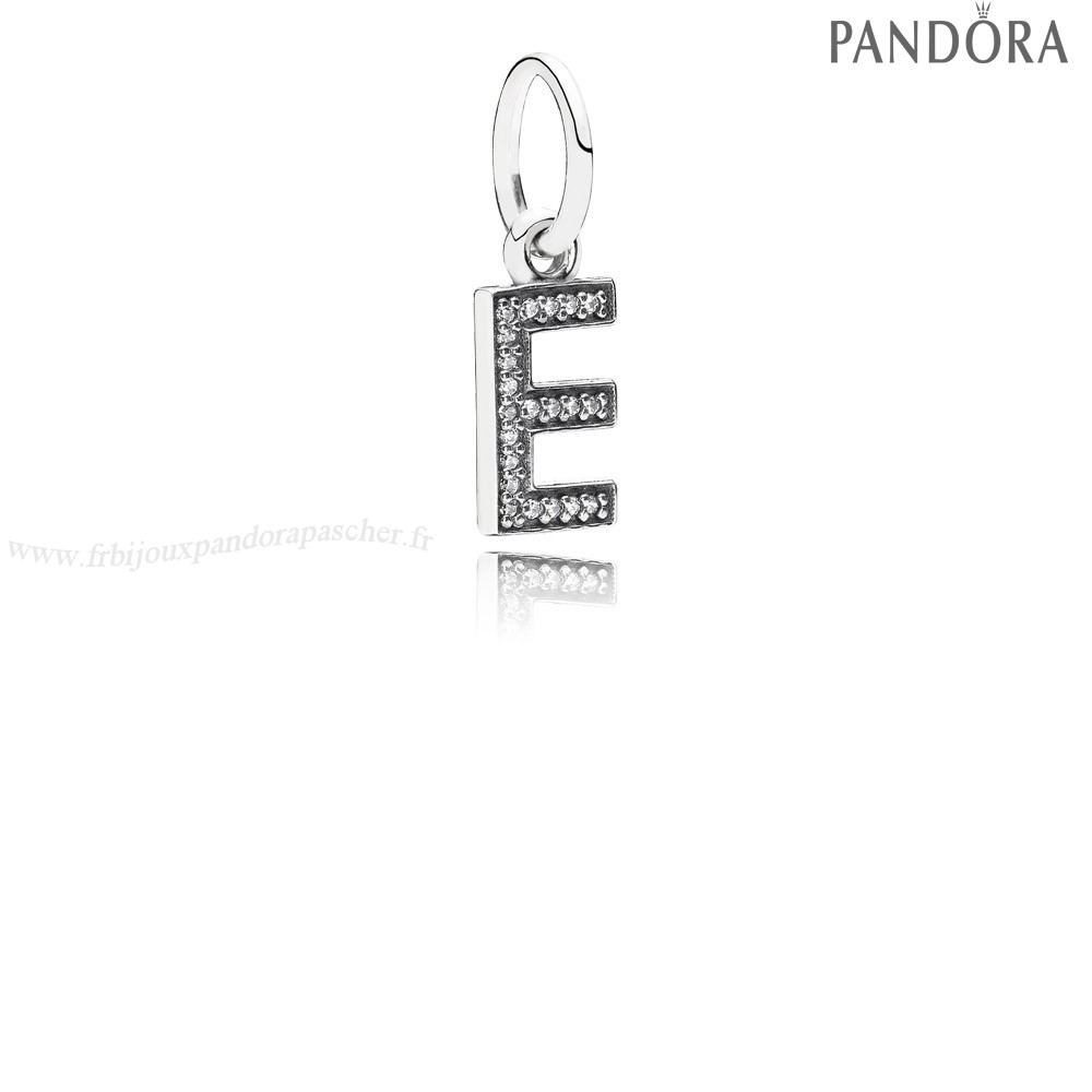 Pandora Promotion Pandora Alphabet Symbols Charms Lettre E Dangle Charm Clear Cz En Ligne
