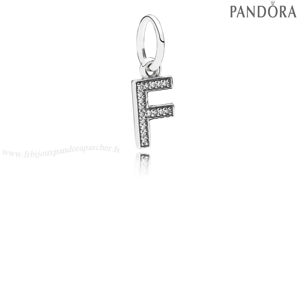 Pandora Promotion Pandora Alphabet Symbols Charms Lettre F Dangle Charm Clear Cz En Ligne