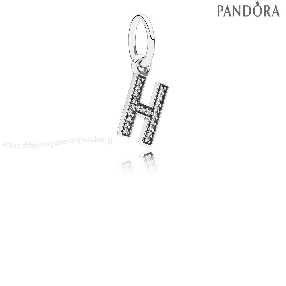 Pandora Promotion Pandora Alphabet Symbols Charms Lettre H Dangle Charm Clear Cz En Ligne