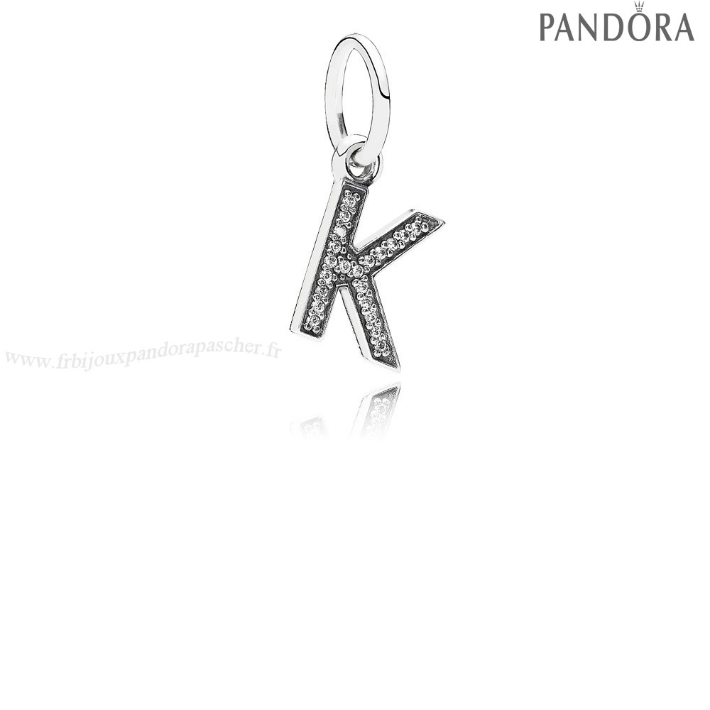 Pandora Promotion Pandora Alphabet Symbols Charms Lettre K Dangle Charm Clear Cz En Ligne