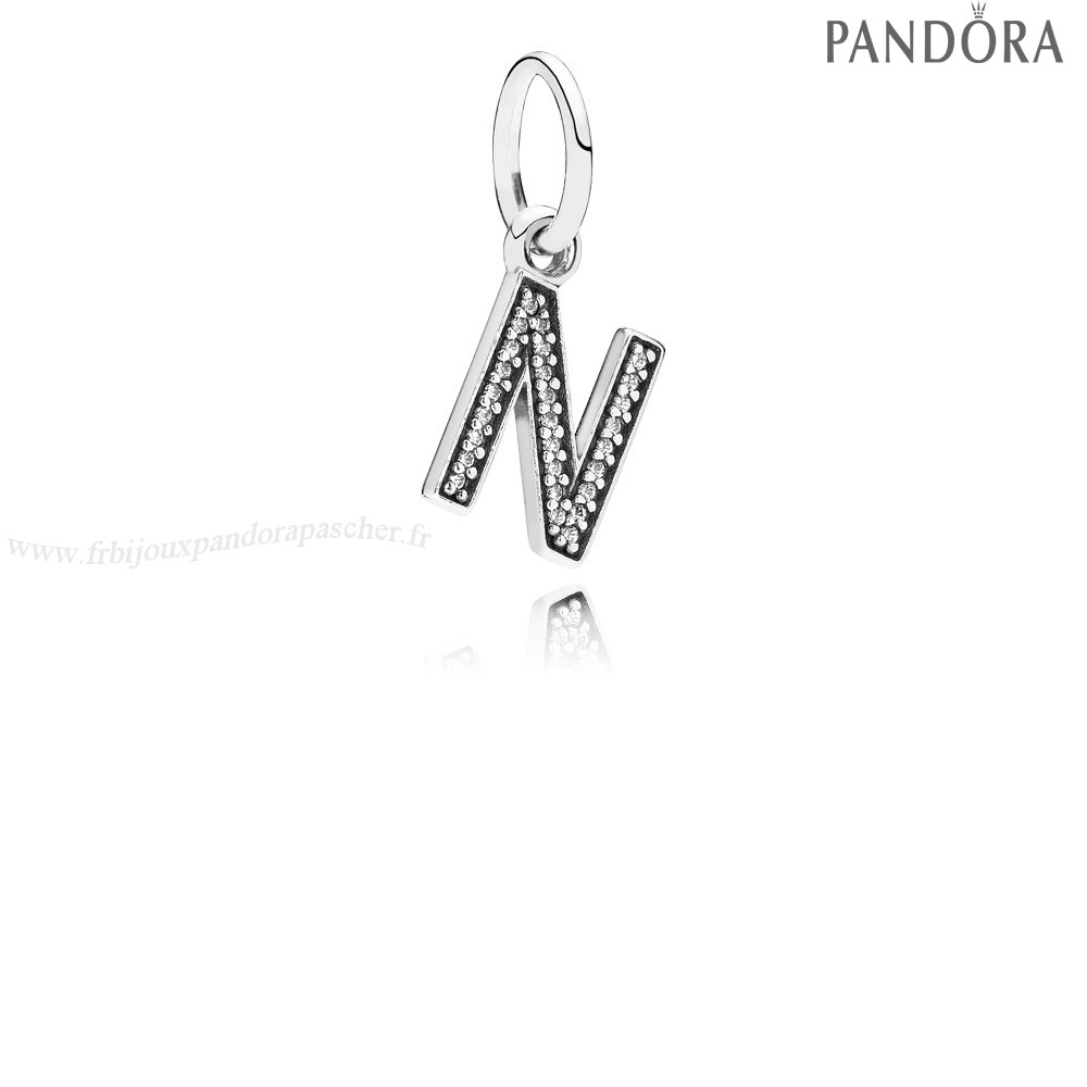 Pandora Promotion Pandora Alphabet Symbols Charms Lettre N Dangle Charm Clear Cz En Ligne
