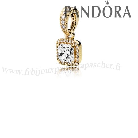 Pandora Promotion Pandora Collections Elegance Intemporelle Pendant 14K Or Clear Cz En Ligne