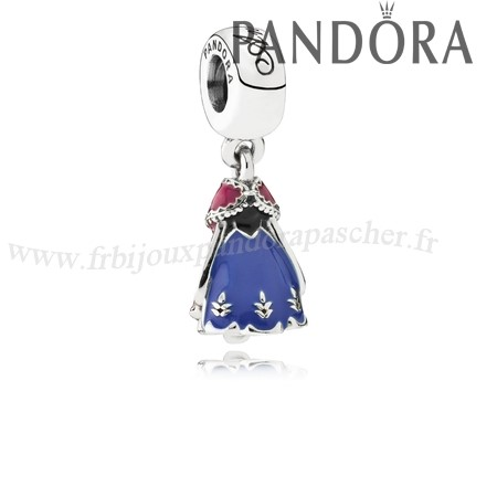 Pandora Promotion Pandora Disney Breloques Robe D'Anna Dangle Charm Mixed Enamel En Ligne