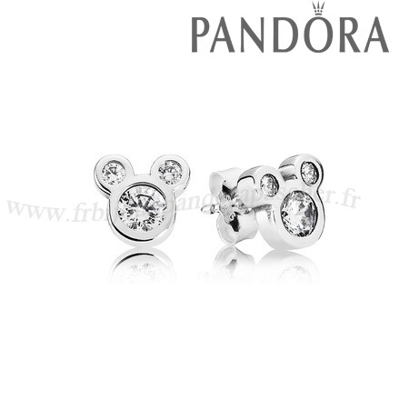 Pandora Promotion Pandora Disney Collection Disney Dazzling Mickey Boucles D'Oreilles Clear Cz En Ligne