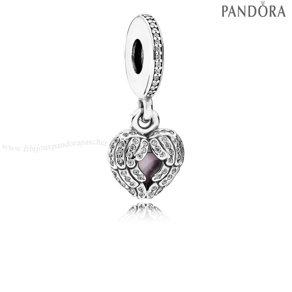 Pandora Promotion Pandora Inspirational Charms Ange Ailes Dangle Charm Clear Cz Rose Email En Ligne