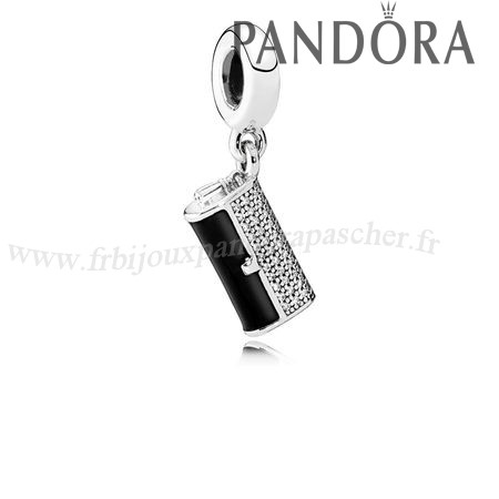 Pandora Promotion Pandora Passions Charms Chic Pochette Glamour Dangle Charm Black Enamel Clear Cz En Ligne