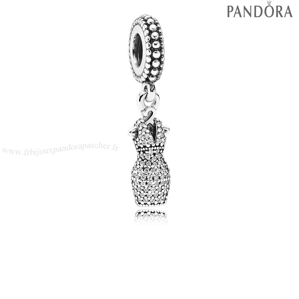Pandora Promotion Pandora Passions Charms Chic Robe Glamour Dazzling Dangle Charm Clear Cz En Ligne