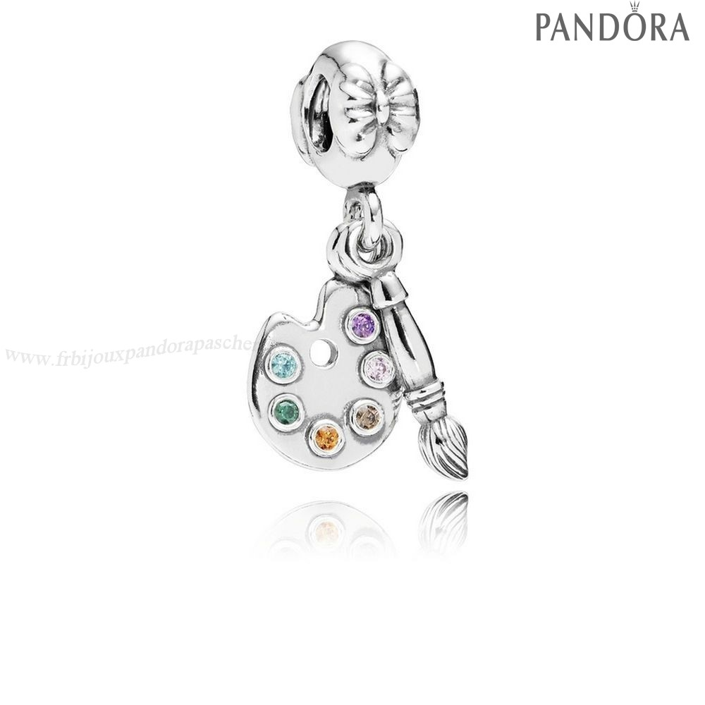 Pandora Promotion Pandora Passions Charms Musique Arts Artiste Palette Dangle Charm Multi Colour Cz En Ligne