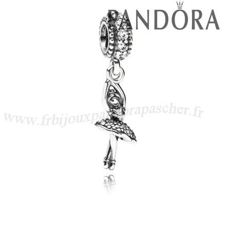 Pandora Promotion Pandora Passions Charms Musique Arts Ballerine Dangle Charm Clear Cz En Ligne